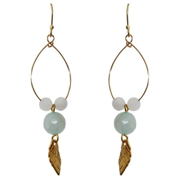 long earrings in pastel colors