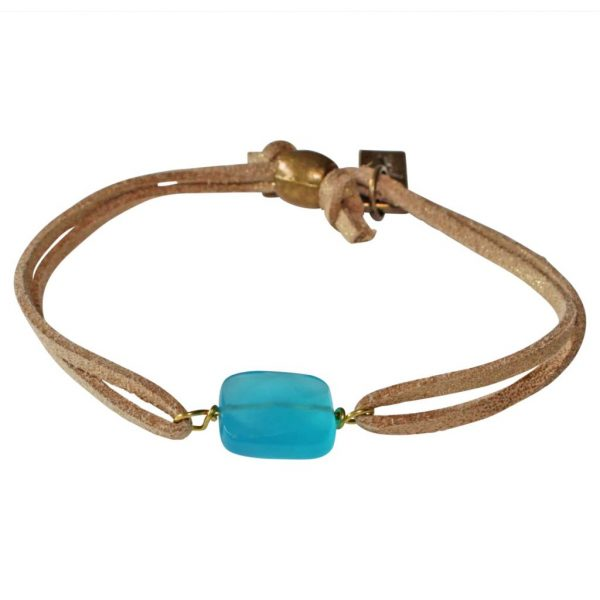 Finite bracelet with turquoise crystal