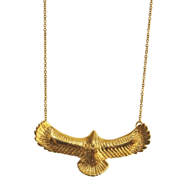 choker with vintage eagle bathed in gold