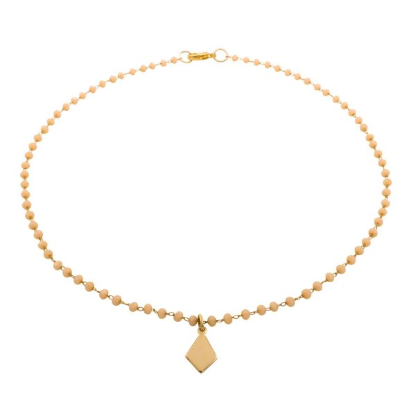 pearl choker and gold-plated pendant