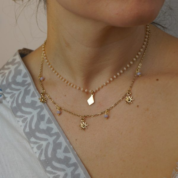chokers pearls and gold plated chain