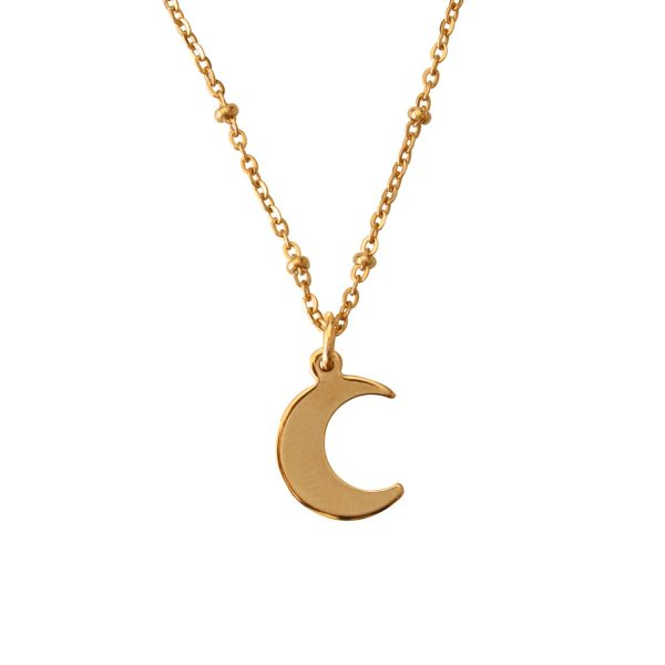 Minimalist pendant with gold-plated half moon from 24k