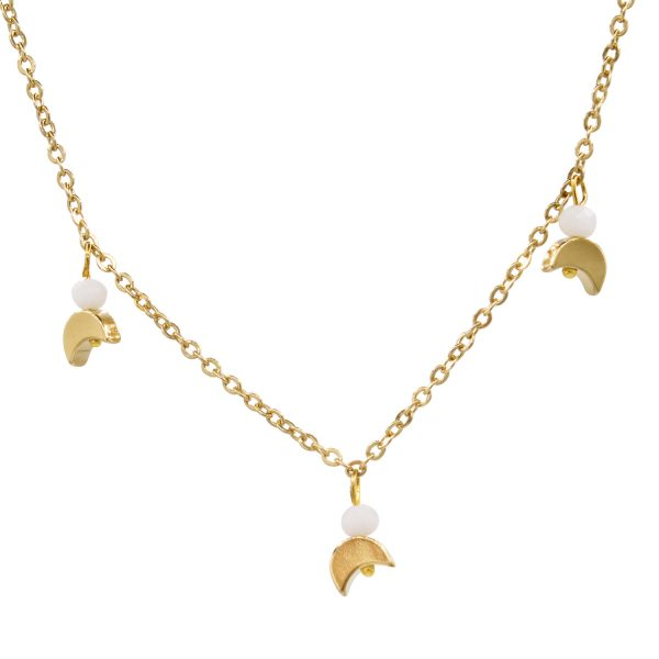 fine jewelery choker with moons and gold plated