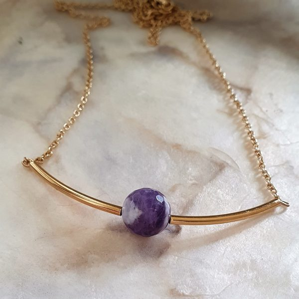 Amethyst necklace Elements collection