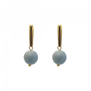 aquamarine gold-plated earrings